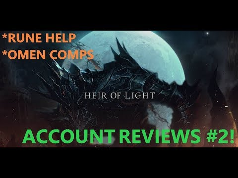 BARCODE - HEIR OF LIGHT - ACCOUNT REVIEWS #2! RUNE HELP, OME