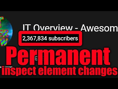 Permanently Save Inspect Element Changes Forever With Javascript Injections | Codify Tutorial