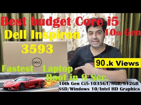 Best budget 10th Gen Core i5  Dell Inspiron 3593 With 512GB SSD/8 GB Ram  Unboxing & Win Speed Test