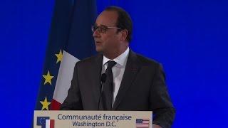 Hollande salue la solidarité des Américains après les attentats