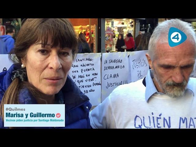 Quilmes: vecinos pidieron justicia por Santiago Maldonado en la Peatonal Rivadavia