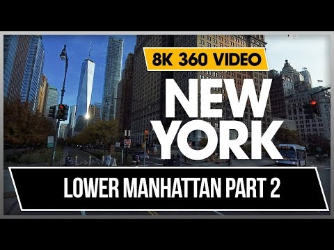 8K 4K 360 VR Video Lower Manhattan Charging Bull Wall Street New Yor 2019 NYC Jonnys Dhyogo