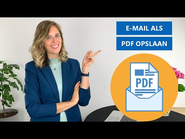 Outlook mail opslaan als PDF