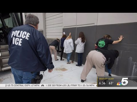 ICE Arrests 280 Workers in Allen Texas at CVE Technology largest workplace Immigration Raid in 10 yr