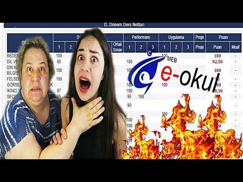 ANNEM İLE E-OKUL NOTLARIMI İNCELEDİK !! (MATEMATİK 1)