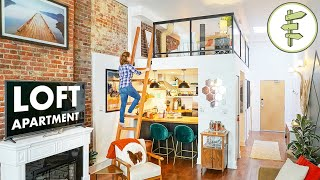 SMALL SPACE TOUR - 434 ft² Apartment with Loft Bedroom & Fantastic Interior Design