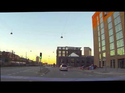 Driving in Copenhagen while listening to Radio Kalundborg