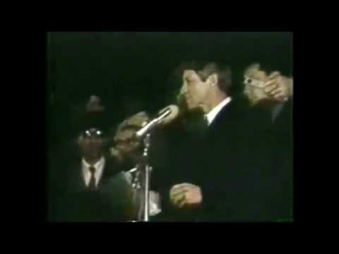 Robert F Kennedy Announcing The Death Of Martin Luther King - A Great Speech