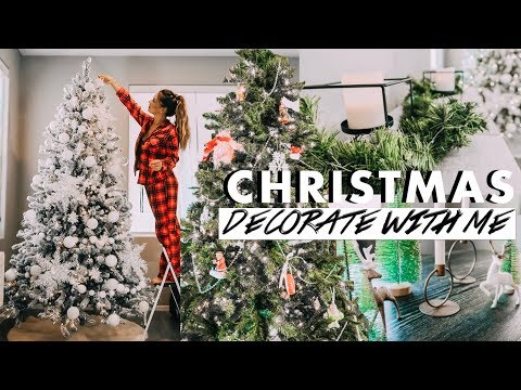 CHRISTMAS DECORATE WITH ME 2019 🎄| CHRISTMAS DECOR + TWO TREES!