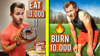 I Tried To EAT and BURN 10,000 Calories in 24 HOURS!