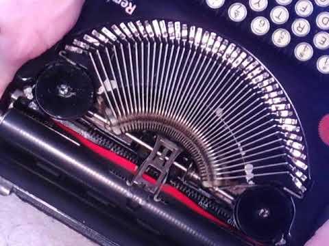 Cleaning Glass Typewriter Keys