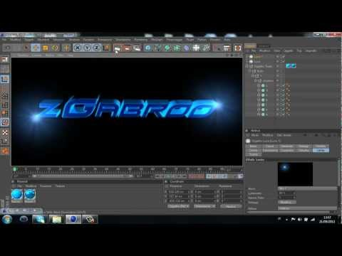 TUTORIAL CINEMA 4D - come creare una scritta 3D w/Gabro