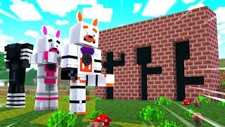 Who Is The Best At Hole in The Wall (Minecraft Fnaf Roleplay Adventure)