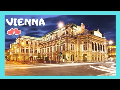 VIENNA: The magnificent OPERA HOUSE (night views), AUSTRIA
