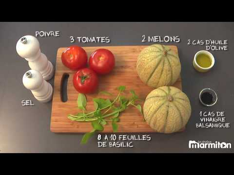 Recette :  soupe froide tomate melon