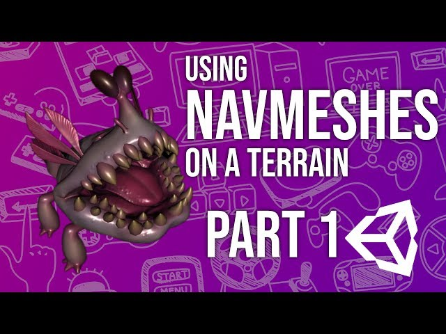 Using Navmeshes on a Terrain in Unity Part 1