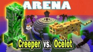 Minecraft Arena Battle Creeper vs. Ocelot