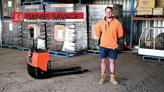 Toyota BT LWE130 electric pallet jack review