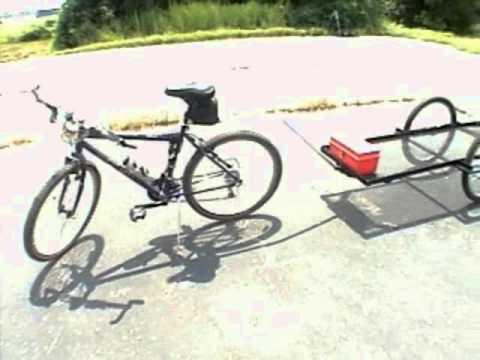 Homemade Flatbed Bike Trailer.wmv - YouTube