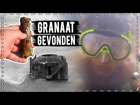 GRANAAT GEVONDEN in DUITSE ONDERWATER BUNKER #VAELTAX