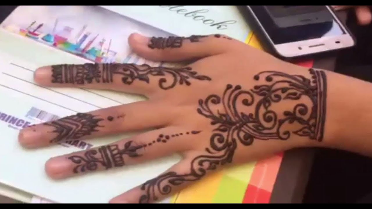 Amazing Henna: Attractive And Amazing Henna Design Of Back Hand Side