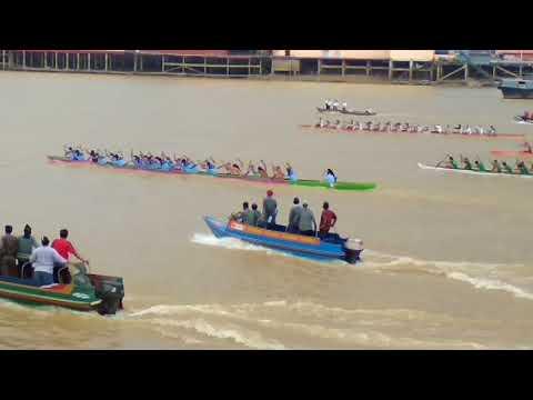 Lomba Perahu Jalur Type A Pada HUT Kota Jambi Ke 617 Tahun 2018