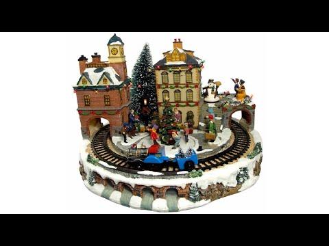 Illuminated, Animated & Musical Grand Station Village Scene Ornament