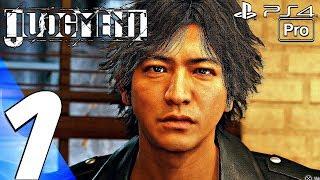 JUDGMENT - Gameplay Walkthrough Part 1 - Prologue (Full Game) PS4 PRO