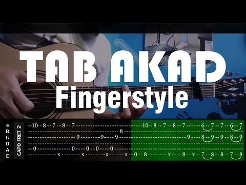 Akad - Payung Teduh - Cover (Fingerstyle Cover) + TABS Tutorial (Tab Untuk Belajar) by vvxo