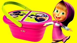 Play Doh Masha and The Bear Picnic Basket Маша и Медведь игрушки Baby Toys Episodes(Another recommended video: Masha and The Bear Маша и Медведь Masha i Medved Masha y El Oso Surprise Eggs Huevos Sorpresas ..., 2016-02-08T16:04:10.000Z)