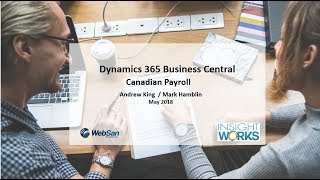 Canadian Payroll in Microsoft Dynamics 365 Business Central