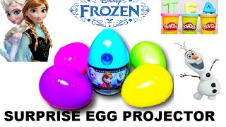 New FROZEN SURPRISE EGG Projector with Anna, Elsa and Olaf   Disney Movies   Toys   Film Eiskönigin