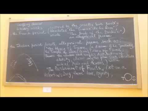 Chaucer, Life & Works - David Giampetruzzi, revision notes.