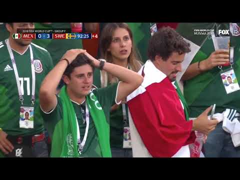 When Mexico Finds Out That South Korea Has Scored [ 2018 World Cup ]