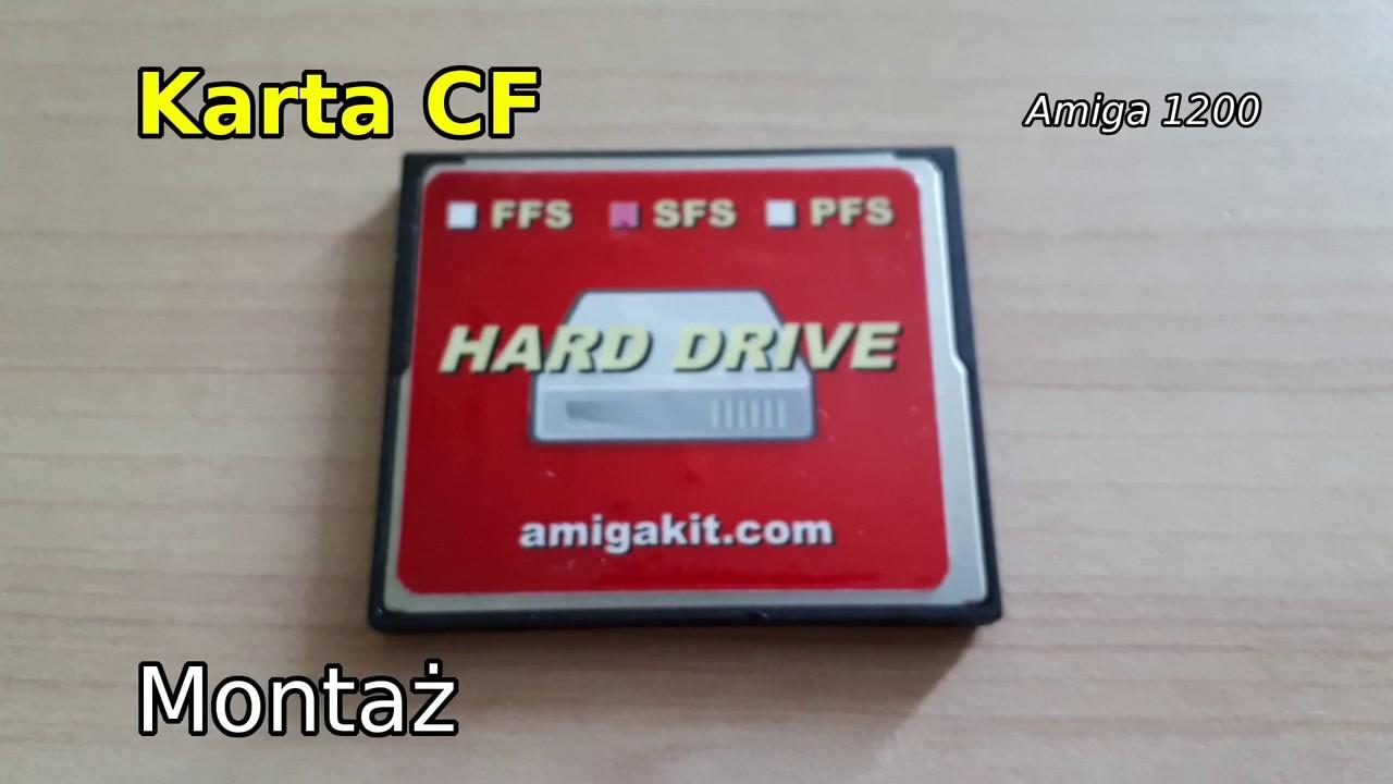 Amiga 1200 Montaz Karty Cf Youtube