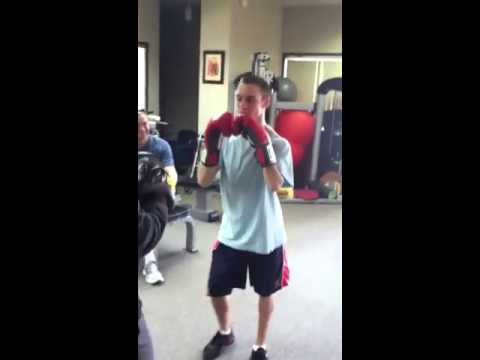 Young Adult with Cerebral Palsy ... Learns boxing skills  ..