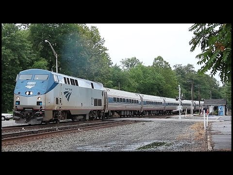 Amtrak & NS Trains At Huntingdon, PA