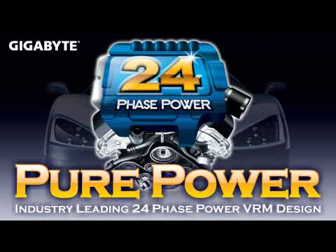 GIGABYTE industrys First 24 Phase Power VRM Design