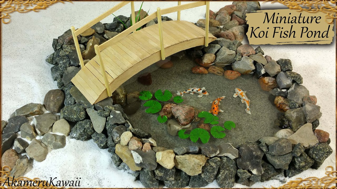Miniature koi fish pond polymer clay resin tutorial for How to make a fish pond