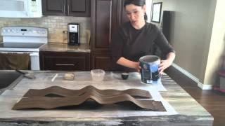 Paper Bag Flooring- Mixing paint wood plank style - paperbagflooring.com
