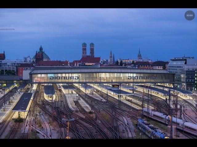 Zeitraffer vom Dach des DB Stellwerks München