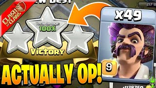 3 STARRING IN WAR WITH 49 PARTY WIZARDS!! *OP* - Clash of Clans