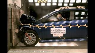 2012 Mitsubishi Lancer | Frontal Crash Test | CrashNet1