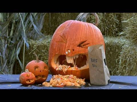 pumpkin template vomiting  How to Carve a Puking Pumpkin