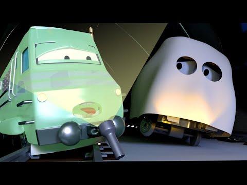 DIA DE LAS BRUJAS ! El Tren Fantasma 👻  Troy el Tren en Auto City - HALLOWEEN para niños