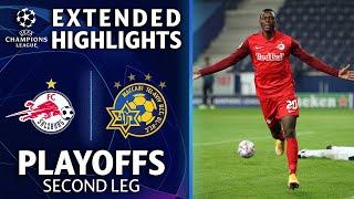 FC Salzburg vs. Maccabi Tel-Aviv: Extended Highlights | Playoffs 2nd Leg | UCL on CBS