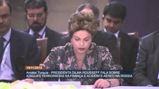 Em discurso na Turquia, Dilma Rousseff fala de terrorismo e importância do Brics