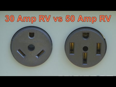 30 Amp RV vs 50 Amp RV - YouTube  Amp Schematic Wiring on
