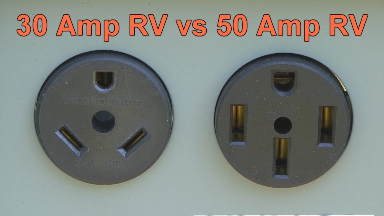 30 Amp RV vs 50 Amp RV  Amp Rv Extension Cord Wiring Diagram on