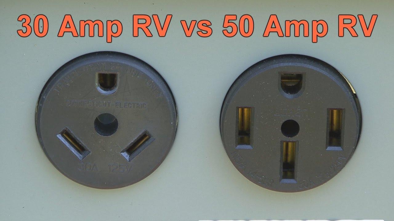 30 Amp RV vs 50 Amp RV  YouTube